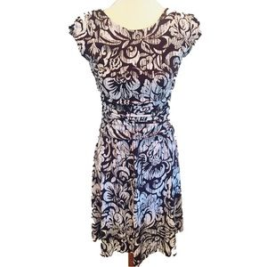 🌟3 for $20 Floral Print Fit & Flare Dress 6P